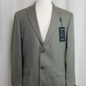 NWT Lauren by RL 100% Linen Moss Green Sport Coat